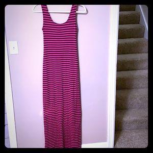 Merona Maxi Dress (Target) Pink and Navy XS